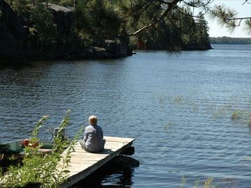 Ely cabin rental - Musing on the Dock of Gabbro Bay