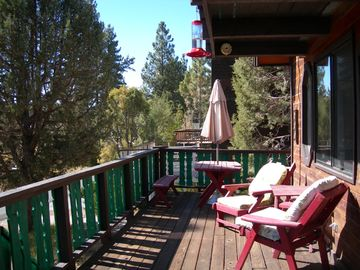Moonridge house rental - Relax on the beautiful upper deck - the best!!