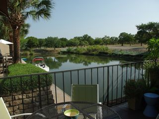 Horseshoe Bay townhome photo - WATERFRONT Patio just steps to the WATER