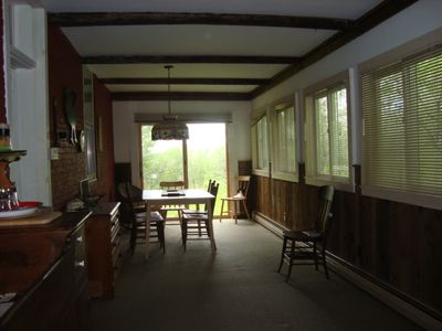 Three season porch and dining area