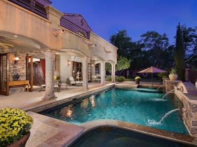 Stunning Backyard with Private Pool and Hot Tub! Soak Up Some Sun!