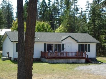 Bigfork house rental - Large Deck, circular drive way, for convenience Ferndale market across the road
