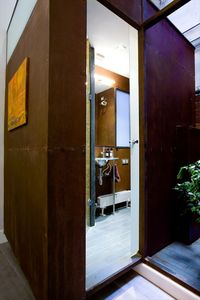 Original designed corten steel Bathroom