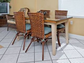 Gulf Shores condo photo - Dinning area with table for 4 and bars stools.
