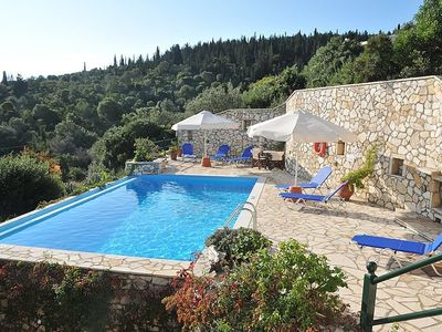 Paxi (Paxos) villa rental - There is plenty of sunbeds around the pool