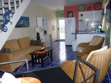 Tastefully decorated lower level. Full size fridge, dishwasher,