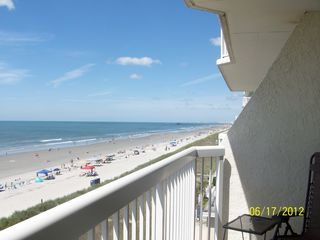 Cherry Grove Beach condo photo - S/SW view from the balcony