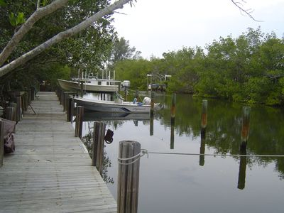 Use of a private boat slip just off intracoastal