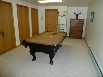 Pool room attached to family room.