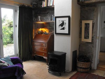Hall with wood burning stove