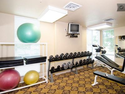 well equipped fitness room - free with your stay