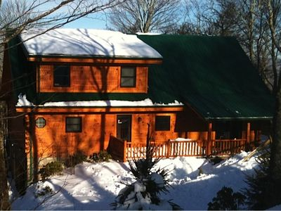 Sugar Mountain cabin rental - Street view during winter