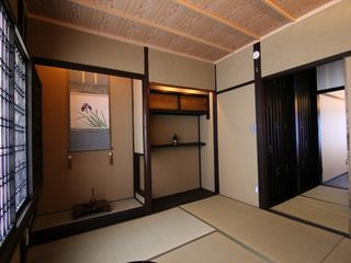 The Authentic Japanese Bedroom/ Two sets of futon mattress can be prepare here. - Kyoto townhome vacation rental photo