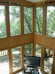 Kentucky Lake house photo - View from the loft - it's like living in a tree house!
