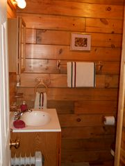Green Lake cabin photo - Bathroom on main floor (shower is to the right, not pictured)