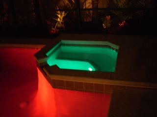 Haines City house photo - pool and spa pool lights