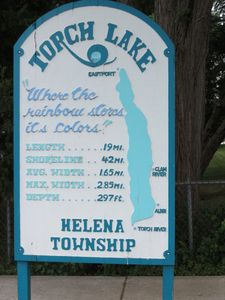 Sign downtown - The Lake Where The Rainbow Stores Its Colors. See for yourself!