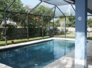 Private screened swimming pool