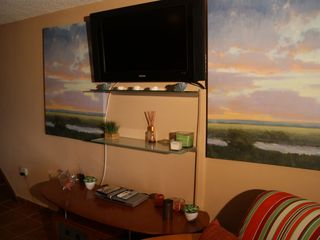 Cabo Rojo apartment photo - Big flat screen TV with satellite.