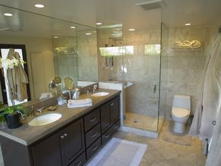 Hollywood estate photo - Luxury Master Bath with Walk-in Shower