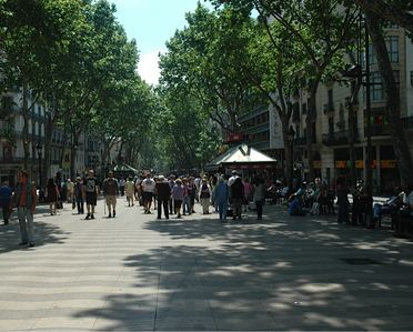 Las Ramblas the famous Barcelona Street is also just minutes walk away