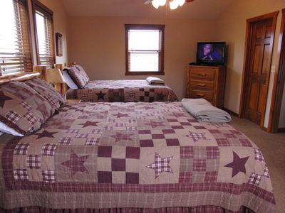 Upper Level-2 Queen Size Beds in Each Bedroom Bathroom, TV, DVD Player and Cable