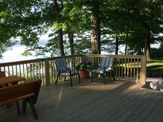 Deck view - Sister Lakes cottage vacation rental photo
