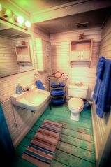 Tybee Island cottage photo - First floor bathroom with walk in shower.