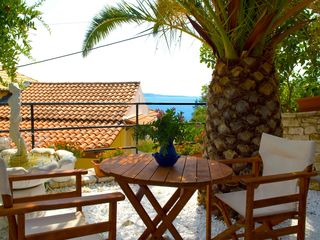 Kaminaki villa photo - Sun Terrace With Sea View