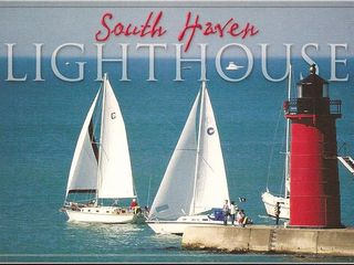 South Haven cottage photo - Our Majestic Lighthouse and Summer Fun Yachts.