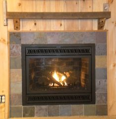 West Wardsboro house photo - new gas log fireplace - guest house