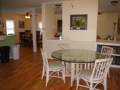 Open floor plan with two dining areas