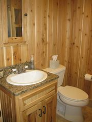 Hammond cabin photo - New cedar bathroom