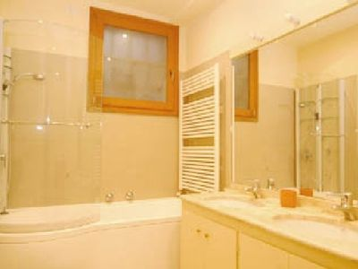 one of the two ensuite bathrooms