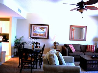 Calypso Resort condo photo - Beautiful gulf views from kitchen, dining, living room and master bedroom.