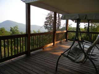 Hayesville cabin photo - Swing on porch