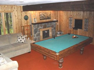 Mount Snow house photo - Pool table, new section couch and new big screen TV built into wall