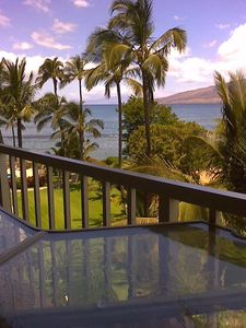 breakfast view from condo lanai