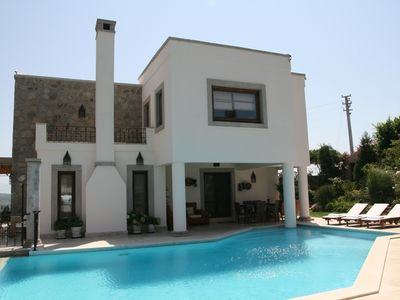 A Luxury Villa in Bitez-Bodrum with Private  Pool and Sea View