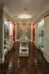 One of the master bedroom walk-in closets