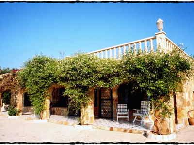The delightful villa offers a fantastic view of the Mediterranean Sea.