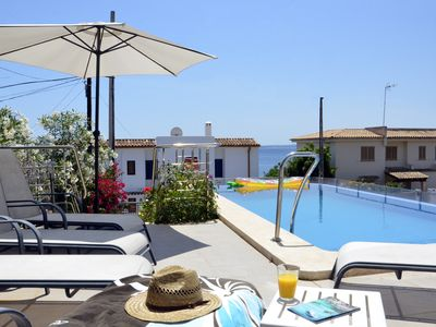 Private pools, 100 meters of sandy beach, golf club in the same area