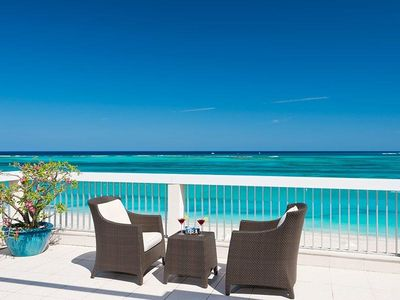 Providenciales - Provo condo rental - West Side of Balcony (Unique and Wonderful)