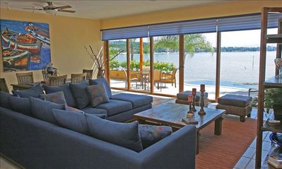 Large, comfortable front living area with unobstructed views of Banderas Bay