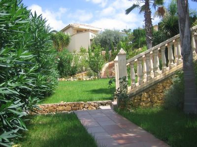 Benidorm Area villa rental - Lawned area in front of villa