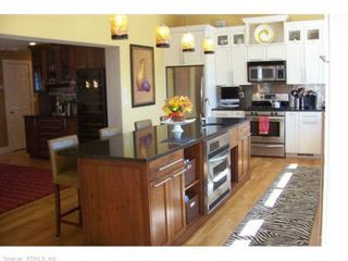 Old Saybrook house photo - Kitchen with breakfast counter over looking the ocean