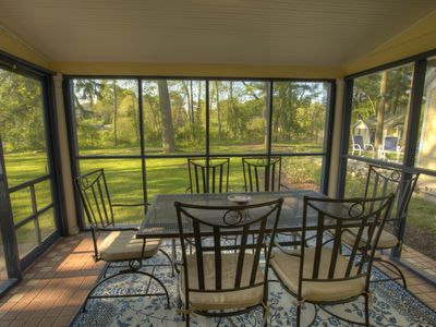 Brunch anyone? Enjoy the comfort of our breezy screen porch