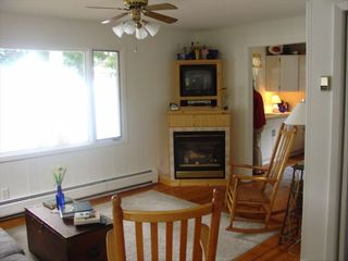 Ellison Bay cottage photo - The fire place and flatscreen DVD