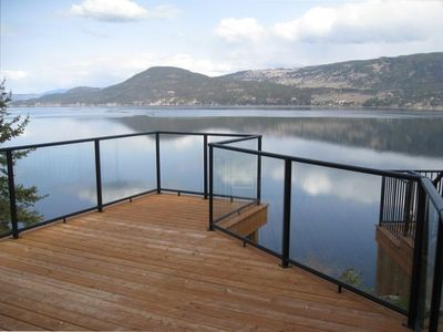 Unbelievable lake view from massive deck!