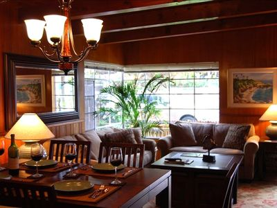 Truel's living room has all the charm and warmth of old La Jolla .